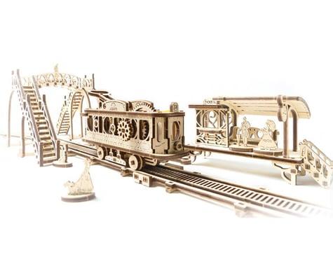 UGears Mechanical Town Tram Line Wooden 3D Model