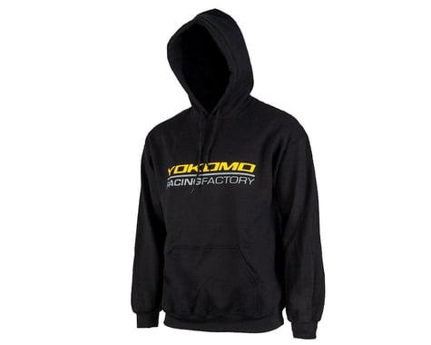Yokomo Racing Factory Hoodie Sweatshirt (Black) (2XL)